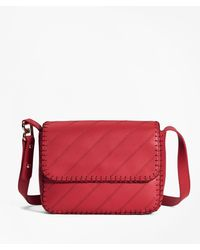 Brooks Brothers Leather Dione Cross-body Bag - Red