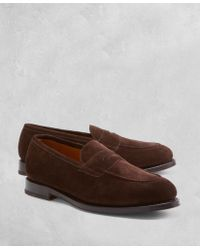Brooks Brothers - Golden Fleece® Suede Penny Loafers - Lyst