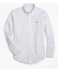Brooks Brothers - Non-iron Regent Fit Heathered Oxford Stripe Sport Shirt - Lyst