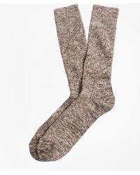 Brooks Brothers - Marled Crew Socks - Lyst