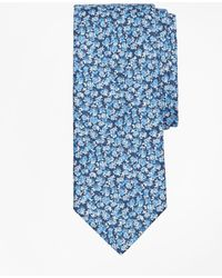 Brooks Brothers - Men's Mini Light Blue Rose Print Tie - Lyst