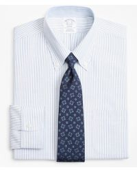Brooks Brothers - Brookscool® Regent Fitted Dress Shirt, Non-iron Alternating Stripe - Lyst