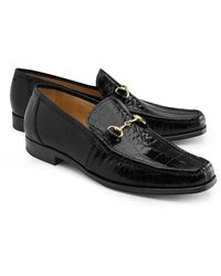 Brooks Brothers | Genuine American Alligator Classic Bit Loafers | Lyst