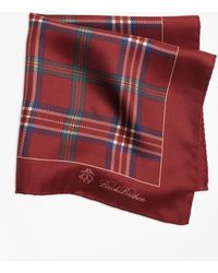 Brooks Brothers - Signature Tartan Pocket Square - Lyst
