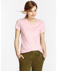 Brooks Brothers - Garment-dyed V-neck T-shirt - Lyst