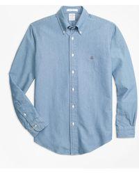 Brooks Brothers - Regent Fit Indigo Dyed Sport Shirt - Lyst