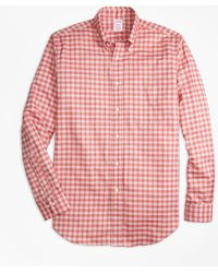 Brooks Brothers - Madison Fit Oxford Check Sport Shirt - Lyst