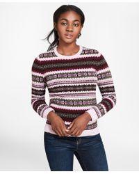 Brooks Brothers - Stretch-merino Wool Fair Isle Sweater - Lyst e51c8b7b7
