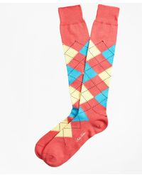 Brooks Brothers - Argyle Over-the-calf Socks - Lyst