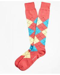 Brooks Brothers | Argyle Over-the-calf Socks | Lyst
