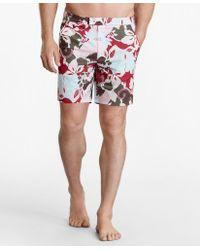 "Brooks Brothers "" Newport 7"""" Floral Swim Trunks"" - Multicolor"