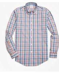 Brooks Brothers - Non-iron Milano Fit Heathered Multi-gingham Sport Shirt - Lyst