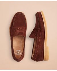 Brooks Brothers Suede Loafer - Brown