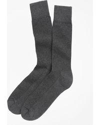 Brooks Brothers - Cotton Cushion Sole Socks - Lyst