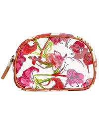 Brooks Brothers Floral Canvas Cosmetic Case - Multicolor