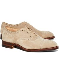 Brooks Brothers - Suede Perforated Captoes - Lyst