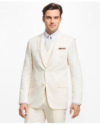 Brooks Brothers Regent Fit Three-piece Linen Suit - White