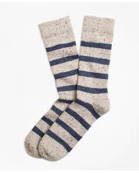 Brooks Brothers - Striped Donegal Wool Crew Socks - Lyst