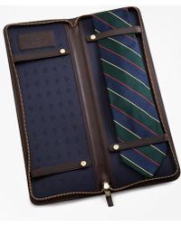 Brooks Brothers Leather Tie Case - Brown