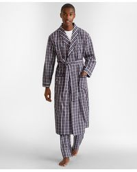 Brooks Brothers Double-plaid Robe - Blue