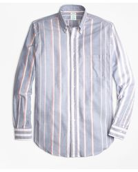 Brooks Brothers - Milano Fit Oxford Bold Stripe Sport Shirt - Lyst