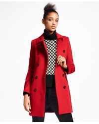 Brooks Brothers - Brushed Wool Twill Peacoat - Lyst