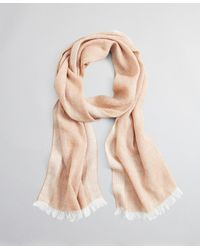 Brooks Brothers Cashmere And Linen Scarf - Natural