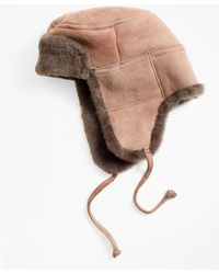 Brooks Brothers - Shearling Trapper - Lyst