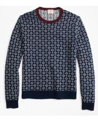 Brooks Brothers - Geometric-print Wool Jumper - Lyst
