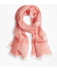 Brooks Brothers Linen Scarf - Pink