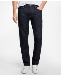 Brooks Brothers - Supima® Stretch Denim Straight Fit Jeans - Lyst