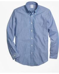 Brooks Brothers - Regent Fit Dobby Micro-stripe Sport Shirt - Lyst