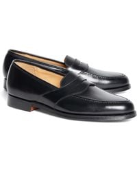 516bc66398e Lyst - Brooks Brothers Peal   Co.® Kiltie Tassel Loafers in Brown ...