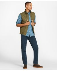 Brooks Brothers - Diamond-quilted Nylon Vest - Lyst