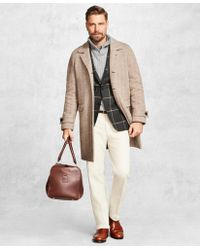 Brooks Brothers Golden Fleece Herringbone Topcoat - Multicolor