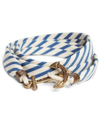 Brooks Brothers - Kiel James Patrick Blue And White Seersucker Lanyard Hitch Cord Bracelet - Lyst