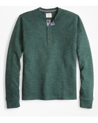 Brooks Brothers - Brushed Cotton Henley - Lyst
