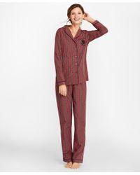 Brooks Brothers - Tartan Cotton Poplin Pyjama Set - Lyst