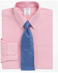 Brooks Brothers - Non-iron Regent Fit Brookscool® Button-down Collar Dress Shirt - Lyst
