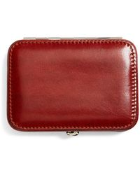 Brooks Brothers Leather Business Card Case - Brown