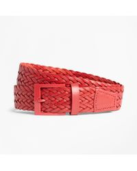 Brooks Brothers - Woven Leather Belt - Lyst