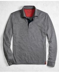 Brooks Brothers | Golden Fleece® Brookstech Performance Interlock Long-sleeve Polo Shirt | Lyst