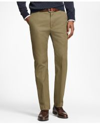 Brooks Brothers - Milano Fit Piece-dyed Supima® Cotton Stretch Chinos - Lyst