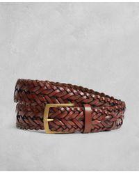 Brooks Brothers - Golden Fleece® Braided Leather Belt - Lyst
