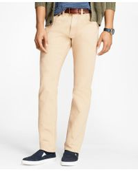 Brooks Brothers - Slim-fit Garment-dyed Jeans - Lyst