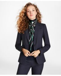 Brooks Brothers - Petite Checked Wool One-button Jacket - Lyst