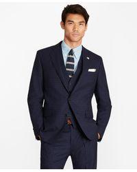 Brooks Brothers Regent Fit Check Three-piece 1818 Suit - Blue