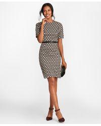 Brooks Brothers - Geometric Jacquard Sheath Dress - Lyst