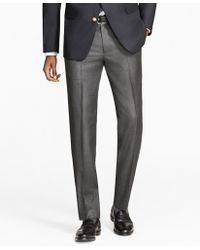 Brooks Brothers - Milano Fit Stretch Wool Trousers - Lyst