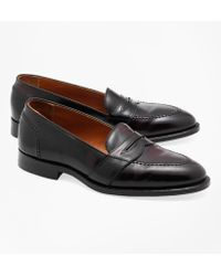 Brooks Brothers | Cordovan Low Vamp Loafers | Lyst